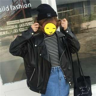 Black Leather Jacket New