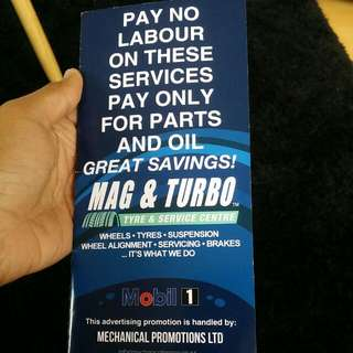 Mag And Turbo Service Saving