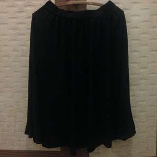 Black Flare Skirt