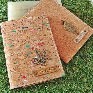 Personalized/Customised Cork Passport Cover With a Charm (Normal Postage Included)