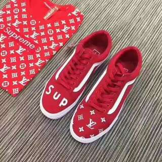 VANS X SUPREME X LV Collab Skate Sneakers