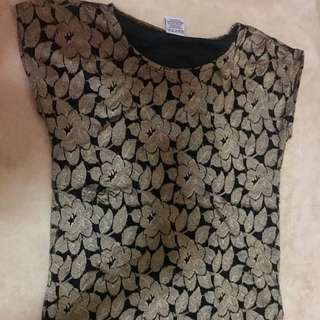Blouse (gold And Black)