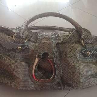 Giorgio Armani Genuine Snake Skin Bag