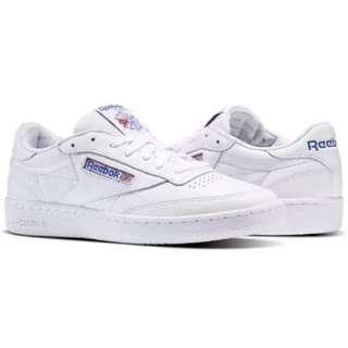 韓國代購Reebok Club C 85 SO 休閒鞋 板鞋 英國 國旗 休閒 街頭 潮流 經典 白鞋 男女 百搭 BS5214 YTS
