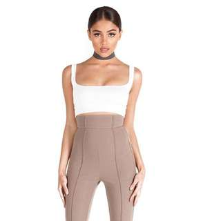 Zachary The Label White Square Crop Top
