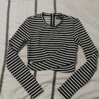 Striped Crop Top Size 8