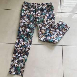 Zara flowers trouser