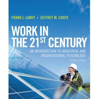 PL3239 - Work In The 21st Century (Industrial-Organisational Psychology IO I-O I/O) PDF