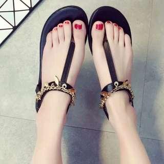 波西米亞民族風平底夾腳涼鞋
