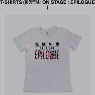 BTS OFFICIAL EPILOGUE TSHIRT - ONHAND AND SEALED