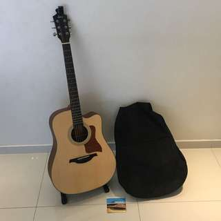 Rex Acoustic Guitar With Stand