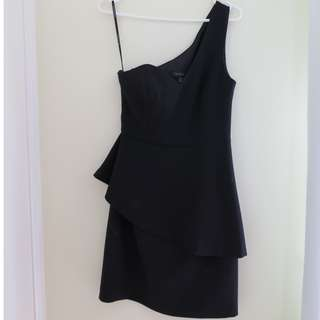 Brand New Forever New One Shoulder Sweetheart Neckline Little Black Dress