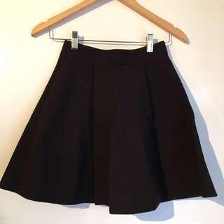 Bardot Black Skater Skirt Size 6