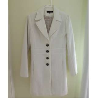 Pretty In Pink White Trench Coat Jacket