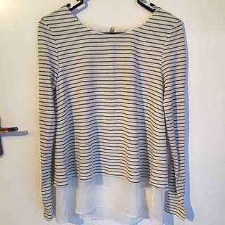 Forever New Striped Shirt Size XXS