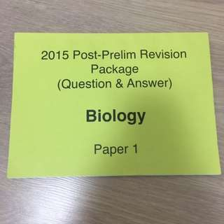 Post Prelim H2 Biology Revision Material By nJC