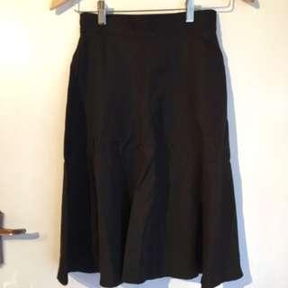 Gorman Black High Waisted Skirt Size 6