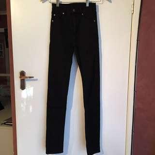 Cheap Monday Second Skin Very Stretchy Jeans Black Size 25/32