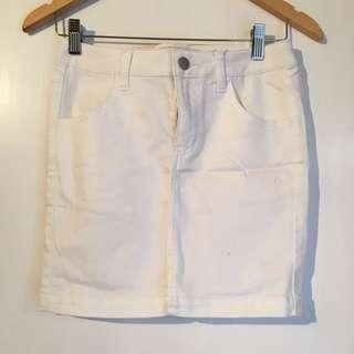 Pieces Mini White Skirt Size S/M