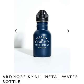 Brand New With Tag Authentic Jack Wills Ardmore  Small Navy Metal Water Bottle In Stylish Navy