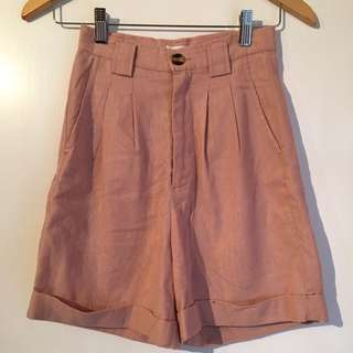 Mossman Baby Pink High Waisted Shorts Size 6