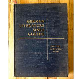 German Literature Since Goethe
