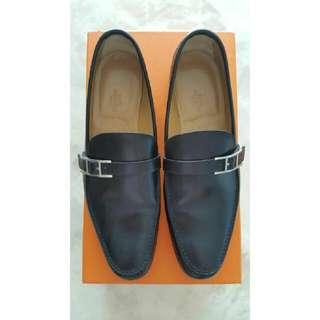 Hermes Black Loafers