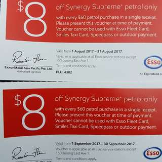 Gasoline Petrol Voucher Aug Sep $8 Off $60
