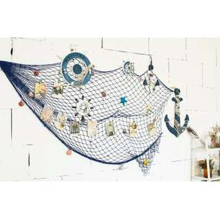 Home decor fish net seashell design