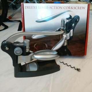 deluxe lever-action corkscrew 紅酒開瓶器