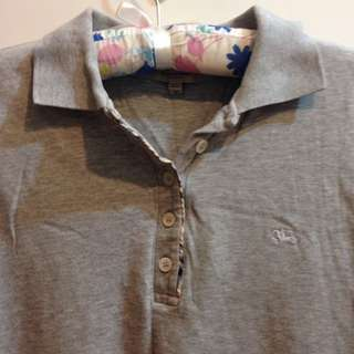 🚚 Burberry女生Polo衫公主袖M號