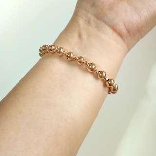 Stainless steel bead bracelet
