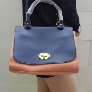 Blue And Peach Shoulder Bag