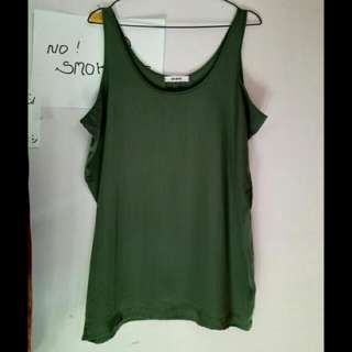 Atasan Tanktop Hijau Army Brand Up Until