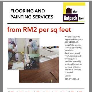 Wall Paint service,Floor installation