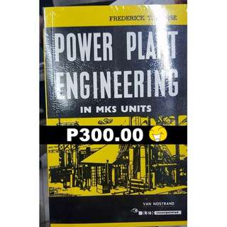 Power Plant Engineering in MKS Units