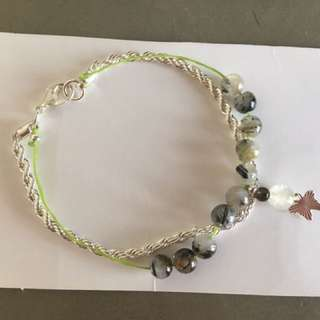 925純銀蝴蝶&水晶手鏈