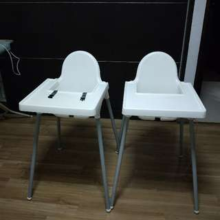 2 Baby High Chairs To Go Together At $18