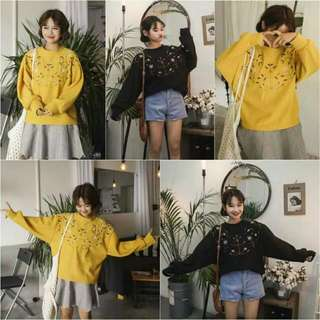 Zara Hnm Pullbear Hoodie Hooded Sweater Oversize Oversized Jumper Jumpsuit Import Murah Army Green Pink White Black Lucu YELLOW blue Knit