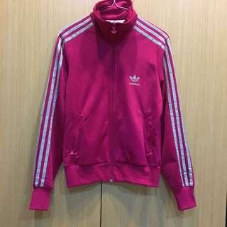 Adidas 愛迪達 桃紅經典外套