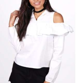 Blouse With Shoulder Cut Out