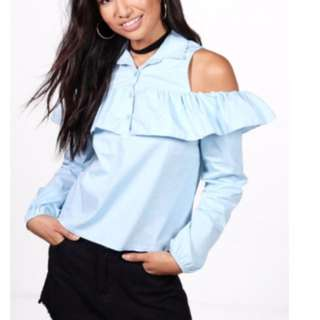 Blouse With Open Cut Shoulder