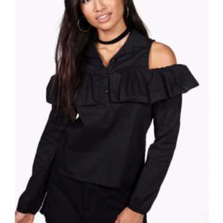 Black Blouse Open Shoulder