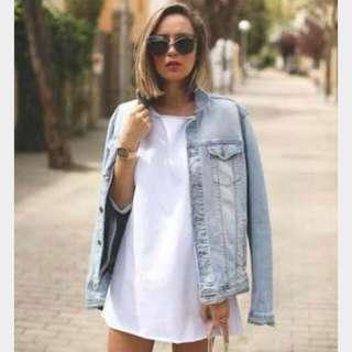 Oversize Jaket Jeans Denim (KONDISI BARU)