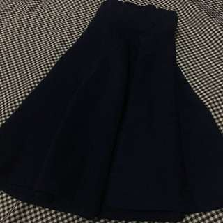 Mini Navy Flare Skirt