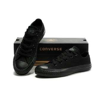 全新正版Converse 全黑低筒