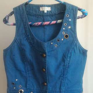 Washed Blue Vest