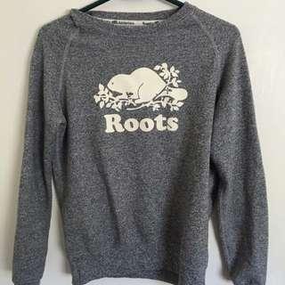 Roots Grey Salt & Pepper Crew Neck