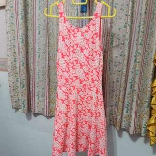 H&M Pink Floral Skater Dress
