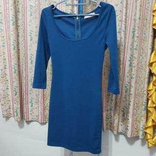 Kitschen Blue Mini Bodycon Dress